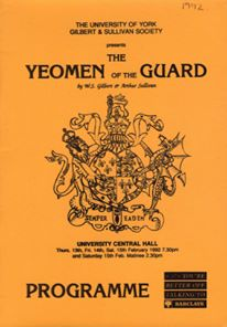The Yeoman of the Guard 1992