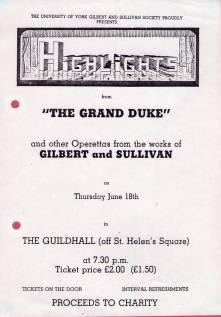 The Grand Duke 1987