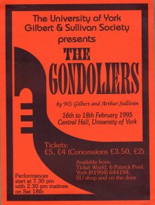 The Gondoliers 1995